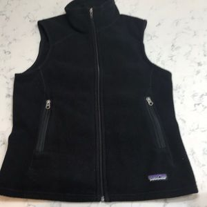 Patagonia  black fleece vest   Medium